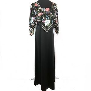 Gorgeous vintage 70's disco floral scarf dress